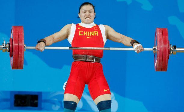 Nyt kärähtänyt Kiinan Cao Lei voitti olympiakultaa Pekingissä.
