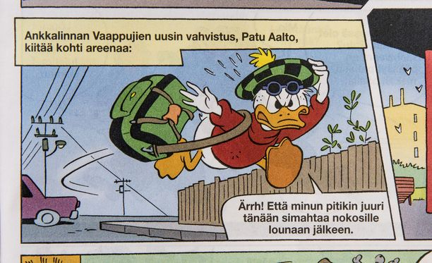 Tältä näyttää Patrik Laineen oma Aku Ankka -hahmo.