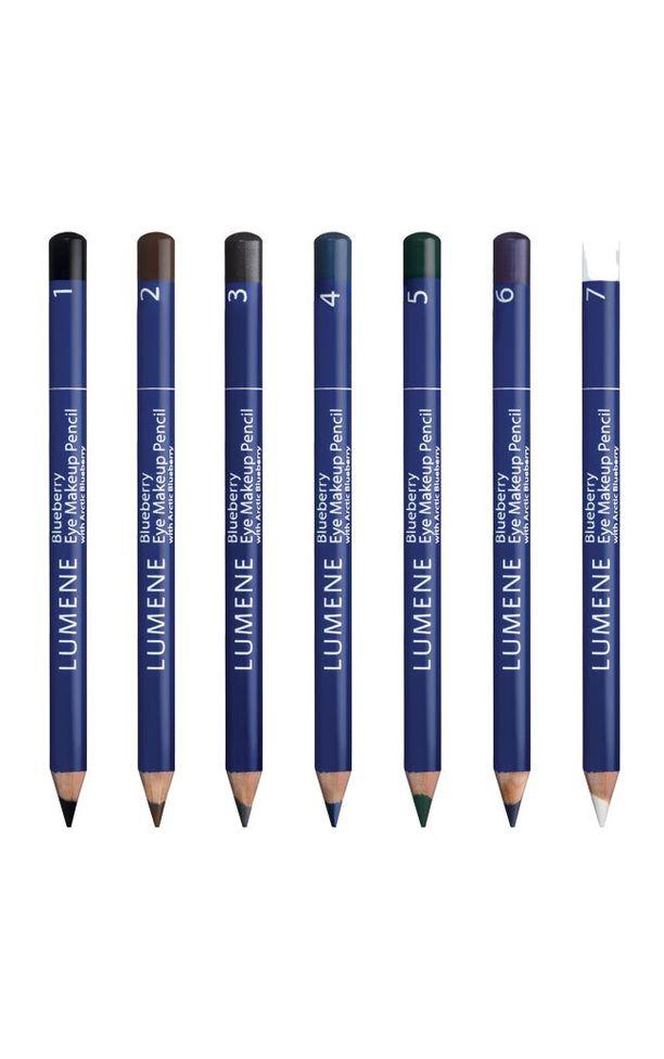 Leikittele väreillä! Lumenen Blueberry-silmämeikkikynillä piirrät silmät kauniisti esiin, 6,90 e