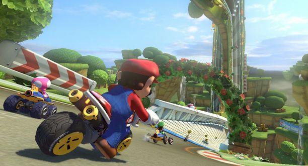 Uusin Mario Kart on graafisesti paitsi värikäs, myös erittäin näyttävä.
