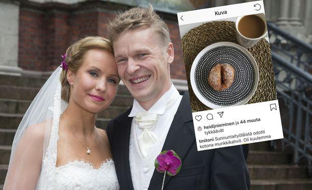 Toni Nieminen ja Heidi vihittiin vuonna 2015. Avioliitossa on koettu jo kaksi. lähes eroon johtanutta kriisiä.