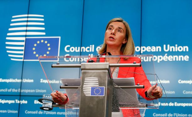 EU:n ulkoministeri Federica Mogherini on toinen tiedotteen allekirjoittajista.