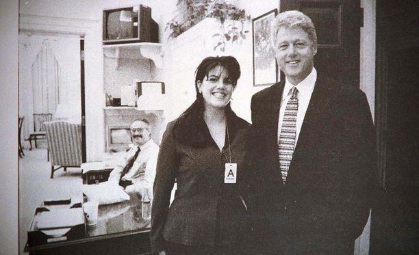 Monica Lewinsky ja Bill Clinton yhteiskuvassa 15 vuotta sitten.