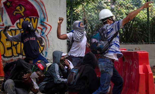 Väkivaltaisuudet ovat jatkuneet Venezuelassa jo pitkään.