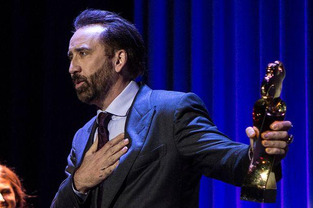 Tältä Nicolas Cage näytti viime lokakuussa Cannesissa.