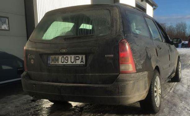 Oulun poliisi kaipaa tietoja tämän auton liikkeistä.