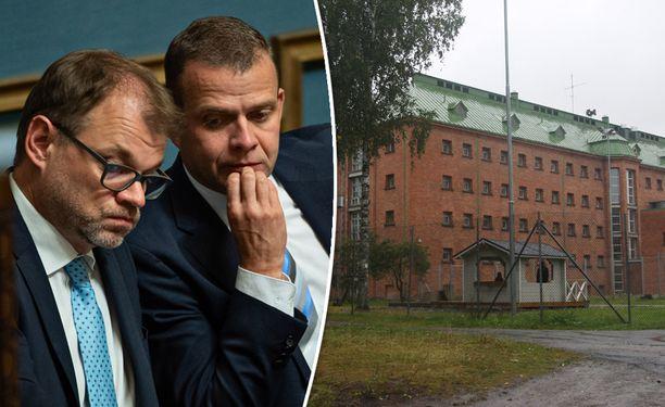 Pääministeri Juha Sipilä ja valtiovarainministeri Petteri Orpo haluavat Ouluun ulkomaalaisten säilöönottoyksikön. Kuvassa on Joutsenon vastaanottokeskus, jossa toimii toinen Suomen nykyisistä säilöönottoyksiköistä.