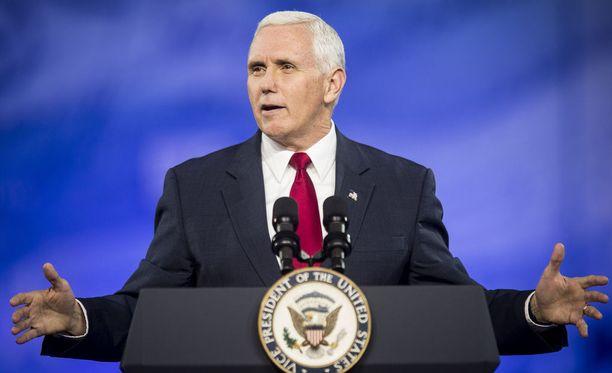 Yhdysvaltain varapresidentti Mike Pence puhui torstaina republikaanien CPAC-kokouksessa.