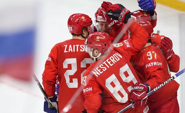 Venäjä voitti Slovakian 4-0.