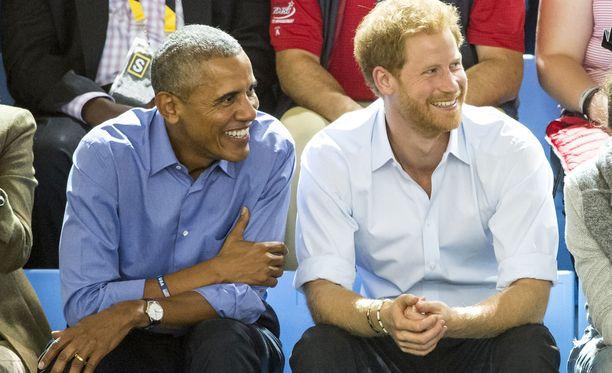 Barack Obamaa ja prinssi Harrya yhdistää muun muassa hyväntekeväisyys.