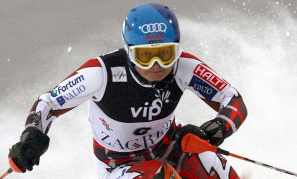 Zagrebin pujottelu toi Tanja Poutiaiselle kauden ensimmäisen voiton.