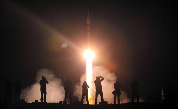 Miehistö lähti Kazakstanista kohti ISS-avaruusasemaa syyskuussa 2017.