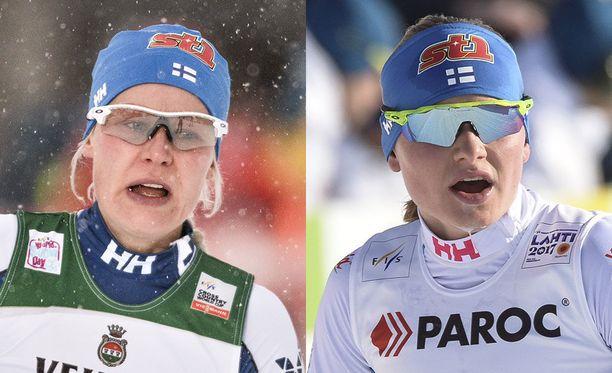 Anne Kyllönen ja Johanna Matintalo kisasivat viimeisistä paikoista olympiajoukkueeseen.
