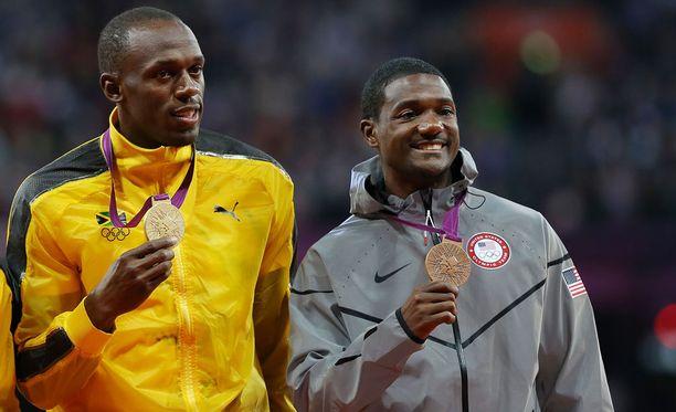 Lontoon olympialaisissa vuonna 2012 Bolt oli satasen ykkönen ja Gatlin kolmonen. Tämän vuoden MM-kisoissa sijoitukset menivät päin vastoin.