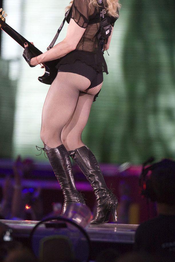 Madonnan rautaiset pakarat aiheuttivat ihmetystä.