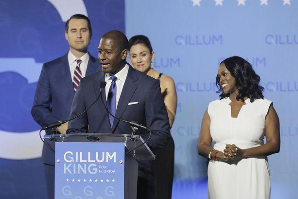Andrew Gillum ei onnistunut viemään republikaaneilta kuvernöörin paikkaa Floridassa.