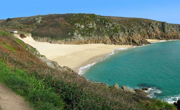 Porthcurnon ranta Cornwallissa.