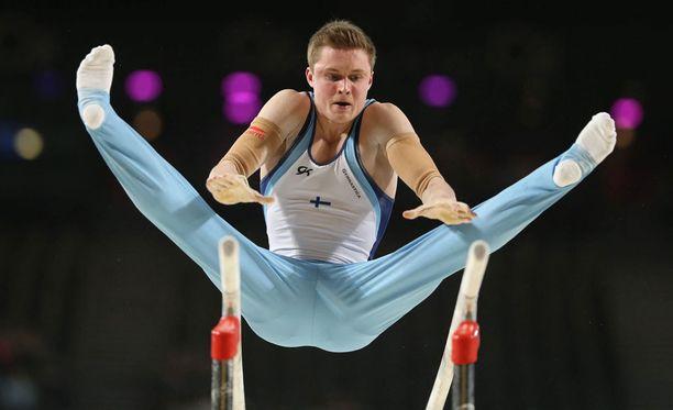 Oskar Kirmes voimisteli Suomelle olympiapaikan.