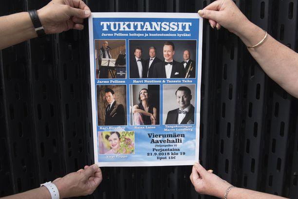 Artistit tangopiireistä haluavat antaa tukensa, jotta Jarmo Pellinen saa tarvitsemansa hoidot. Tukitanssit järjestetään talkoilla.