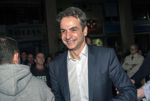 Uusi demokratia -puolueen johtaja Kyrianos Mitsotakis vuonna 2016.