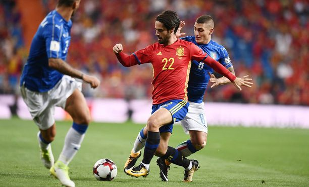 Isco piti etenkin Italian Mauro Verrattia brutaalisti pilkkanaan Santiago Bernabéun nurmella.