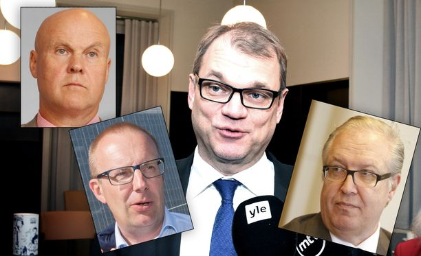 Pääministeri Juha Sipilä tapasi maanantaina muun muassa SAK:n puheenjohtajan Jarkko Elorannan. STTK:n Antti Palola ja Akavan Sture Fjäder korostavat sovun löytymisen tärkeyttä.