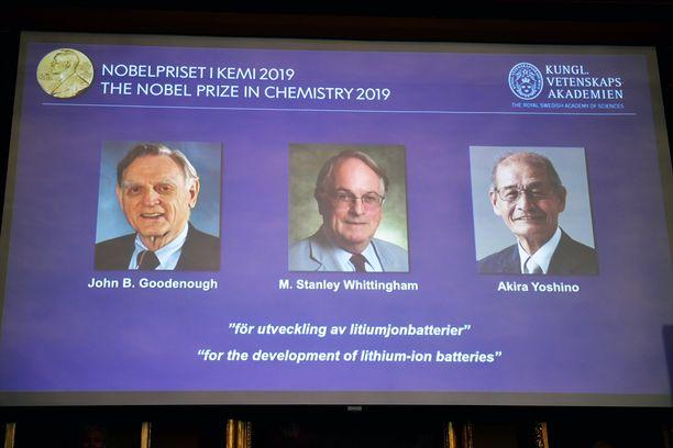 He saavat Nobelin palkinnon kemiasta.