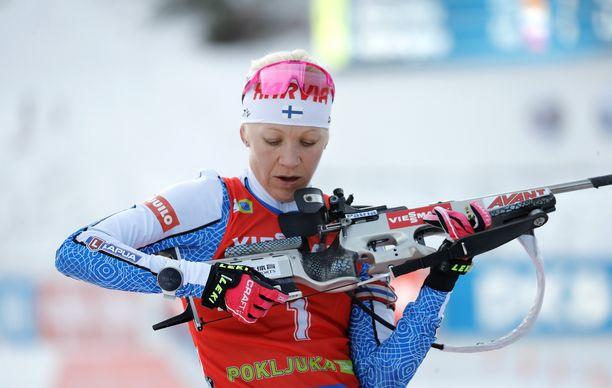 Kaisa Mäkäräinen osui ampumahiihdon maailmancupissa 53:lla perättäisellä kisalaukauksella. Se on huikea saldo.