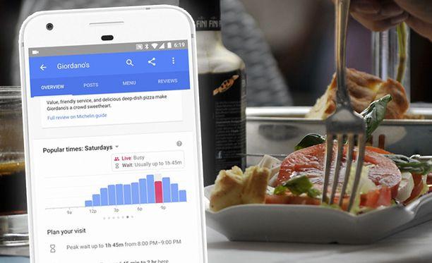 Google tuo pian ravintoloiden jonotusajat palveluihinsa.