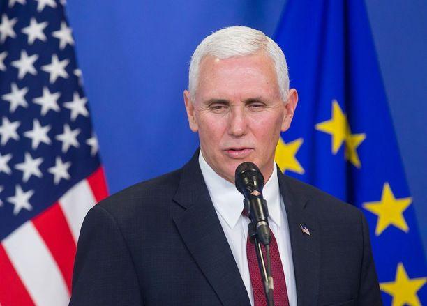 Yhdysvaltain varapresidentti Mike Pence vierailee parhaillaan Brysselissä.