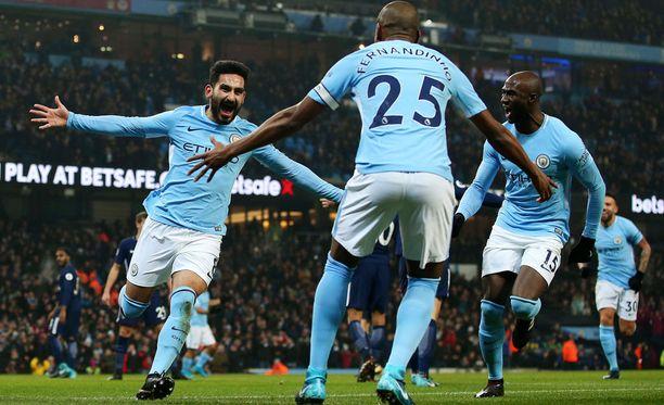 Manchester City juhli Valioliigan huippuottelussa.