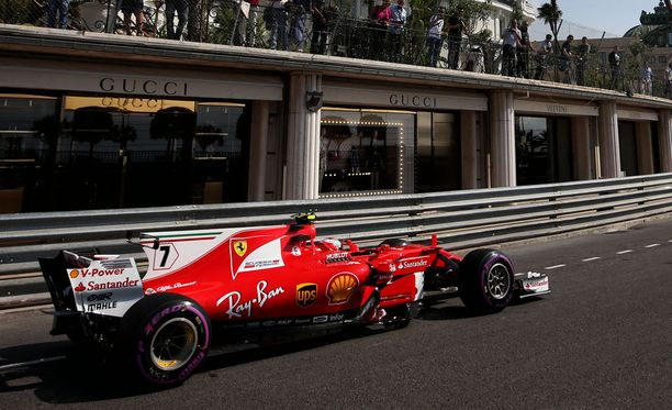 Kimi Räikkösen vauhti oli vaisua Monacon ensimmäisissä harjoituksissa.