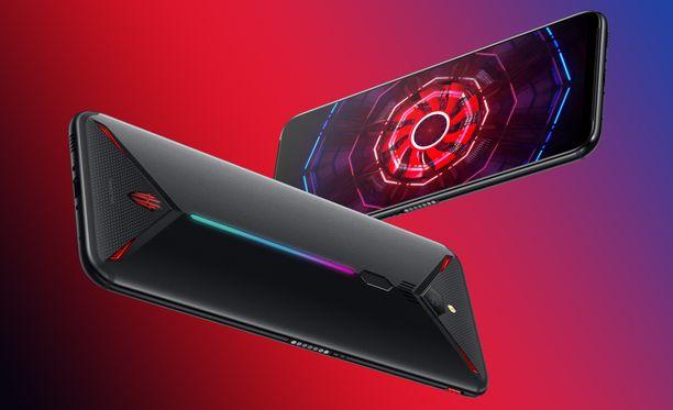 Nubian Red Magic 3 -puhelimen takaa löytyy led-valaistus.