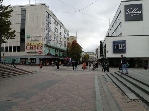 Tältä näytti Jyväskylän ydinkeskustassa päiväsaikaan keskiviikkona 23.9.