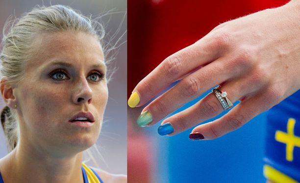 Emma Greenin sateenkaarikynnet herättivät MM-Moskovassa paljon keskustelua.