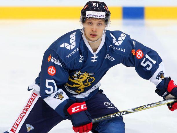 Kristian Näkyvä on pelannut myös Suomen maajoukkueessa.