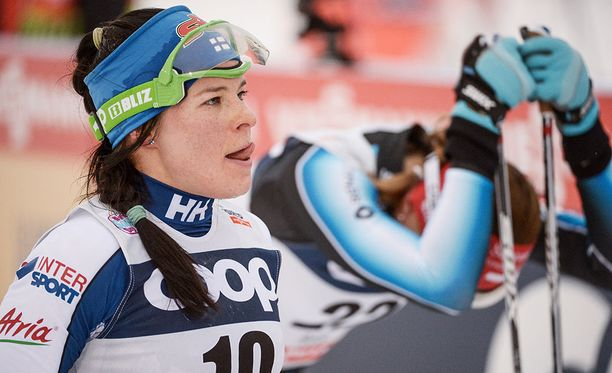 Krista Pärmäkoski oli sunnuntaina seitsemäs maailmancupin vapaan tyylin kolmenkympin yhteislähtökisassa Oslon Holmenkollenilla.