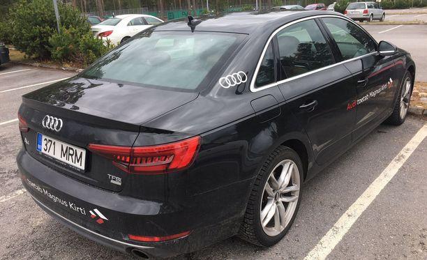 Magnus Kirt ajaa Audilla, jossa on väkevä turboahdettu bensiinimoottori ja neliveto.