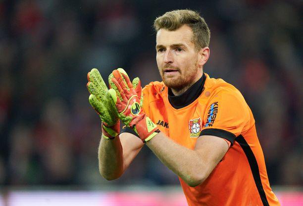 Lukas Hradecky tähtää keskiviikkona arvokkaaseen Juventus-voittoon.