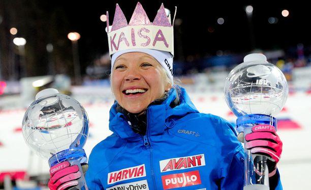 Kaisa Mäkäräinen oli maailmancupin ampumahiihtokuningatar juuri päättyneellä kaudella.