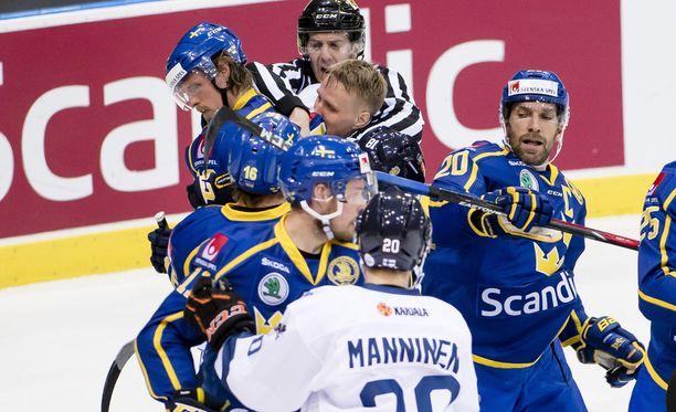 Suomi ja Ruotsi ottelivat Göteborgin Scandinaviumissa.
