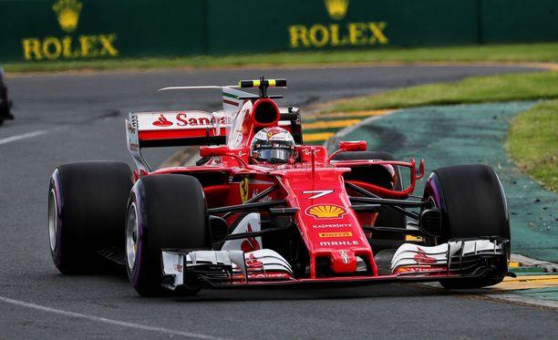 Kimi Räikkönen oli aika-ajossa neljäs.