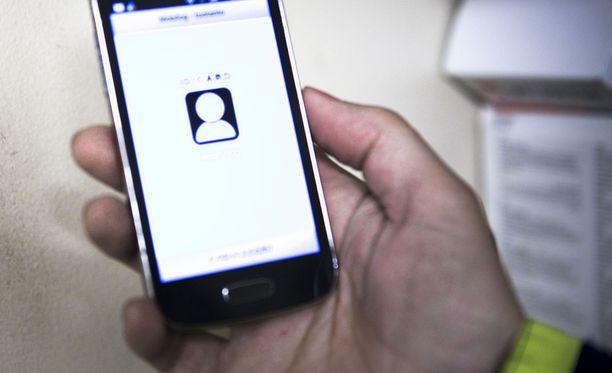 Äidin mukaan Orbotin sipulin muotoinen tunnus näkyy käytössä ollessaan heti kännykän etusivulla. Kuvituskuva.