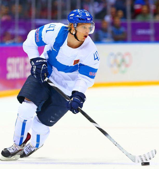 Antti Pihlström oli 2014 Sotshissa voittamassa olympiapronssia.