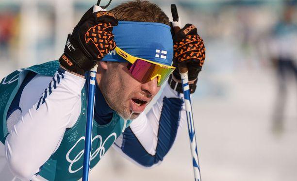 Lari Lehtonen oli 31:s Koreassa miesten 15 kilometrin vapaan etenemistavan olympiastartissa.
