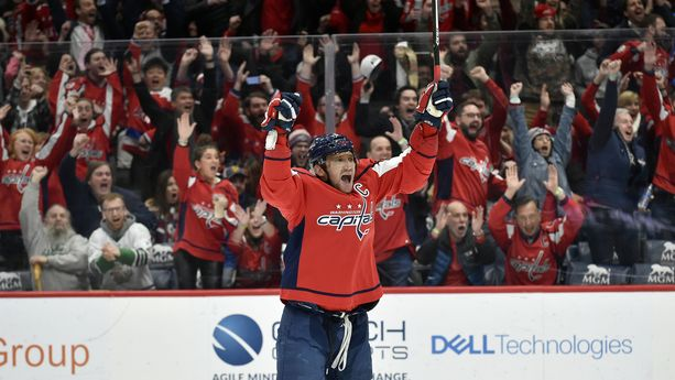 Aleksandr Ovetshkin tuuletti lauantaina 700 NHL-maalin rajapyykkiä.
