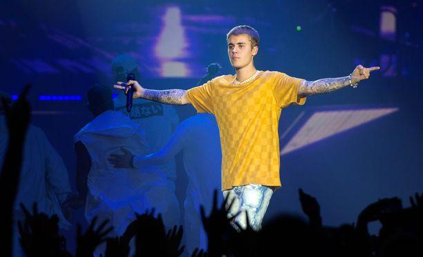 Justin Bieber esiintyi maanantaina Helsingissä.