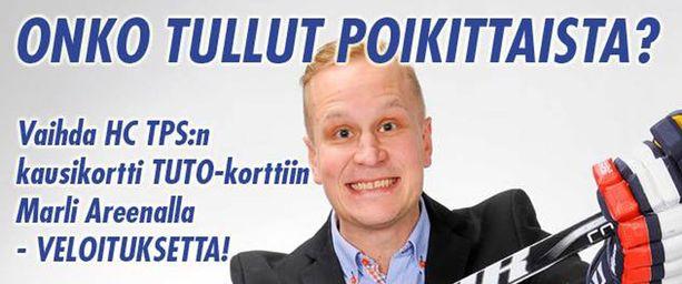 Näin mainostaa TuTo, mannekiinina Marco Tuokko.