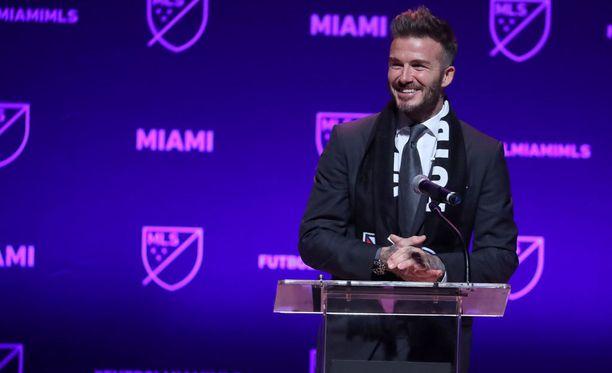 David Beckham ei voinut peittää tyytyväisyyttään, kun MLS-komissaari Don Garber myönsi hänelle luvan perustaa oman MLS-seuransa.