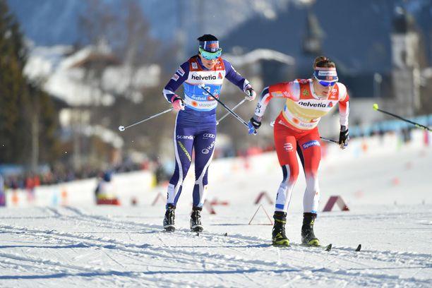 Krista Pärmäkoski oli Suomen kakkososuuden hiihtäjä.
